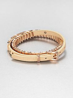 Michael Kors Leather Double-Wrap Bracelet/Rose