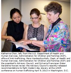 Sylvania Franciscan Sister, Geraldine Nowak, Attends Modern-Day Slavery Conference to talk about Human Trafficking in Washington DC