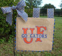 Go Gators Double Sided Burlap Garden Flag - Collegiate Spirit - Custom Game Day