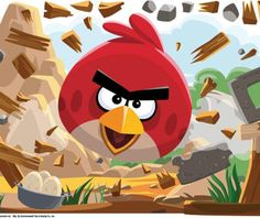 large angry bird wall stickers: large angry bird wall stickers