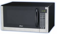 Oster Microwave Oven, Stainless Steel 10 Variable power levels and 6 one-touch cooking options Programmable child lock prevents unsupervised Product Built to North American Electrical Standards