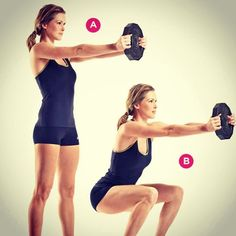 #exercise #workout #strength BRACED SQUAT👟Hold a weight plate (or exercise ball) in front of your chest with both hands, your arms completely straight.(A)Perform a squat while holding the weight in place.(B)  #workoutmotivation #workouttime #without #fitness #fitnesslifestyle  #motivation #motivationmondays #motivations #health