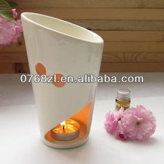Creative Ceramic Candle Holder   Material:transparent porcelain  Size:DIA9.7cm H16cm  Hand made finished  OEM/ODM is allowed