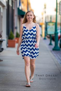 Here is our great Daisy dress! Comes in Navy and Pink! Check it out on our website: www.thatdressboutique.info