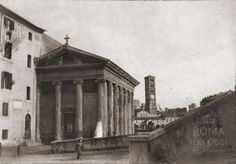 Via di Ponte Rotto (Davenport, 1903) Con il Tempio di Portunno riconvertito a chiesa nazionale degli armeni, Sullo sfondo S. M. in Cosmedin. Best Cities In Europe, Rome, Photographs, Painting, Italia, Fotografia, Photos, Painting Art, Paintings