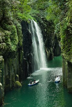 Takachiho shower time, Miyazaki, Japan by ippei + janine, via Flickr