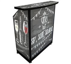 Up your trade show booth game with a fully portable, customizable bar. First round is on us!