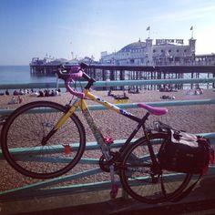 Cycling to Brighton beach