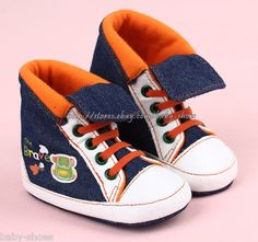 956158c40357 Toddler Baby Boy Girl Denim Walking Shoes Sneakers Size 0 6 6 12 12 18  Months