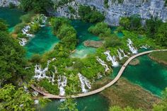 Plitvice Lakes, Croatia:    The oldest park in Southeast Europe and the largest national park in Croatia, Plitvice Lakes National Park is known for its cascading lakes. The lakes dazzle with their vast array of beautiful colors, which range from green to blue.     © SPANI Arnaud/hemis.fr/Getty Images