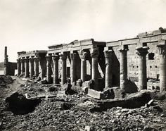 Felix Bonfils - Temple, Philae, Egypt, 1876 by The History of Photography Archive, via Flickr