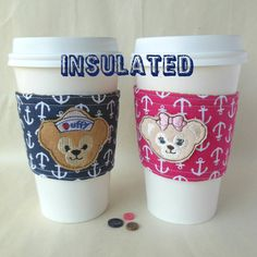 Disney couple drink cozy Duffy Bear and by DeegeeMarieGifts