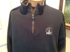 NBC Peacock Half Zip Pullover TV Television Network  Size Large
