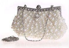White pearl clutch
