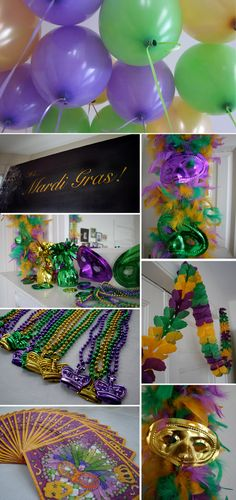 Mardi Gras decorations ideas - we have a lot of these products in the store.