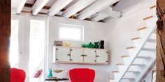 atico lavapies Elle Decor, Loft, Bed, Spain, Furniture, Shelters, Houses, Spaces, Stream Bed