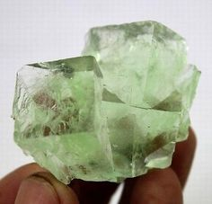 55g-Extreme-Glassy-Clear-Cubic-Green-Fluorite-Specimen-Xianghuapu-China-CM671664