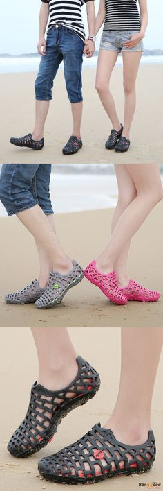 US$14.99 + Free shipping. Men's Sandal, Women's Sandal, Breathable Slippers, Beach Shoes, Hollow-out Shoes, Hole Sandals, Beach Summer Sandal. Color: Black, Rose, Grey. Best Couple Shoes Ever.