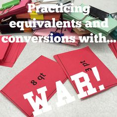 Make the process of learning equivalents and conversions a little less painful with a fun card game of WAR!