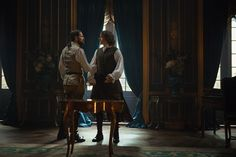 """HQ still of Jamie and Murtagh in """"Best Laid Schemes""""."""