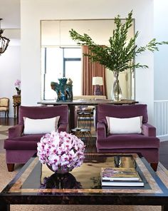 Inspirational Homes: Decorando Com Roxo