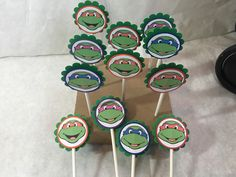 A personal favorite from my Etsy shop https://www.etsy.com/listing/263179281/just-12-teenage-mutant-ninja-turtles