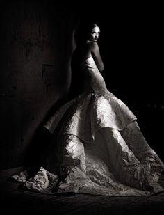 Couture Allure - Mariacarla Boscono by Paolo Roversi for Vogue Italia (March 2013)