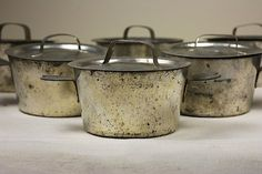 Vintage french creme carmel pots!! Oooohhh the possibilityss.