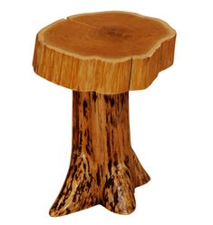 We offer this Fireside Cedar Stump Nightstand and other fine rustic log furniture.