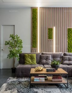 Awesome 48 Adorable Living Room Wall Design Ideas That You Need To Try Living Room Wall Designs, Living Room Decor, Office Interior Design, Interior Walls, Wooden Wall Design, Room Partition Designs, Living Room Partition Design, House Design, Foyer Design