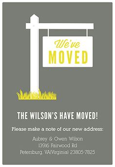 """Our new address"" printable moving announcement  #moving #announcements #newhome"