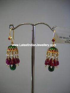 Light weight Trendy hoop style Gold Jumkas for all ages - Latest Indian Jewellery Designs Light Weight Gold Jewellery, Kids Gold Jewellery, Gold Jewelry Simple, Gold Jewellery Design, Simple Earrings, Designer Jewelry, Gold Jhumka Earrings, Jewelry Design Earrings, Gold Earrings Designs