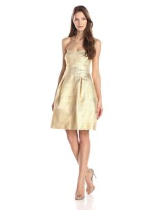 Bandage Strapless Fit and Flare Dress by Glamorous