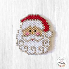 Gün / Day Noel Baba / Santa Claus Day Santa Claus Claus Americas Best Value Lamplighter Year # 86 to # that # that 🔎desen / pattern by: Beading Projects, Beading Tutorials, Peyote Patterns, Beading Patterns, Bead Jewellery, Beaded Jewelry, Beaded Banners, Brick Stitch Earrings, Beaded Christmas Ornaments