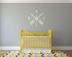 Doodle Arrow Compass - Wall Decal Custom Vinyl Art Stickers for Nurseries, Classrooms, Homes, Kids Rooms, Dorms   Dana Decals