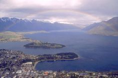 New Zealand South Island Queenstown is a remarkable place with world's best scenery and exciting adventures like jet boat rides, sky diving and bungy jumping... famous tourist destination in NZ's South Island. Plan to visit Queenstown. ~Geoff