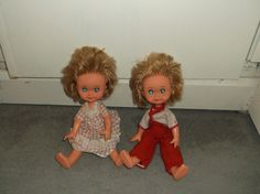 """UNUSUAL VINTAGE KEWPIE DOLLS made in ITALY FIBA HB 11"""" DRESSED! TWINS?   2.98+5.3 Kewpie, Vintage Dolls, Elf, Twins, Italy, Holiday Decor, How To Make, Clothes, Dresses"""