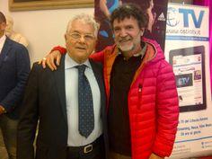 Claudio Santini, nostro consulente tecnico #Running, con Luciano Duchi (Patron ed ideatore della #RomaOstia)