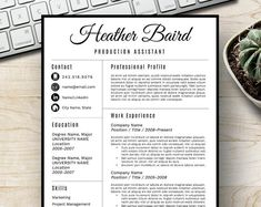 Student Resume Template for Word, Page Resume + Cover Letter + Reference Page Cover Letter For Resume, Cover Letter Template, Letter Templates, Job Resume, Resume Tips, Resume Ideas, Resume Help, Teaching Resume, Resume Writing