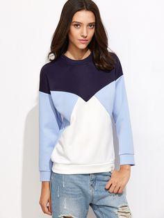 22$  Watch now - http://dibpk.justgood.pw/go.php?t=7365 - Color Block Drop Shoulder Sweatshirt