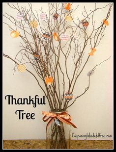 Thankful Tree: Reflect on What Your Family is Thankful For