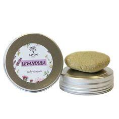 Přírodní tuhý šampon Levandule 60 g - hliníková přenoska Savon - Krásná Každý Den Soap