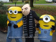 Coolest Despicable Me Costumes 7: Here are our Despicable Me costumes from Halloween 2011! These are my sons ages 10, 8, and 5. The minions were completely homemade. They were Halloween