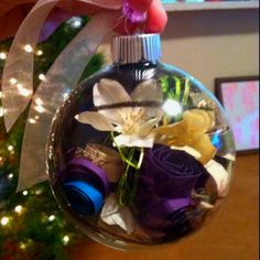 First Christmas Ornament! Wedding invite & bouquet