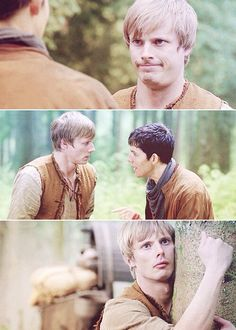 Merlin and Arthur Pendragon, expressions, funny episode, #Merlin, Bradley James & Colin Morgan, male actors