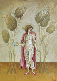 """Κορδης __George Kordis """" loneliness is a bride Byzantine Art, Mary Magdalene, Orthodox Icons, Russian Art, Sacred Art, Conceptual Art, Woman Painting, Female Art, Modern Art"""