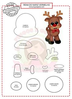 KUFER with artistic handicrafts: Rags - patterns Felt Christmas Ornaments, Christmas Art, Christmas Projects, Holiday Crafts, Christmas Decorations, Xmas, Felt Crafts, Diy And Crafts, Crafts For Kids