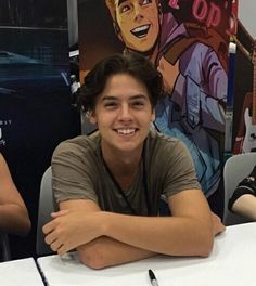 """@/colesprouse """"been a long time since ive smiled, but with her i can smile all the time """" posts on ig."""
