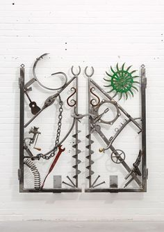 Untitled II Bob Dylan 2013 Welded Iron Objects (many of them vintage) 171 x 156 x 26 cm