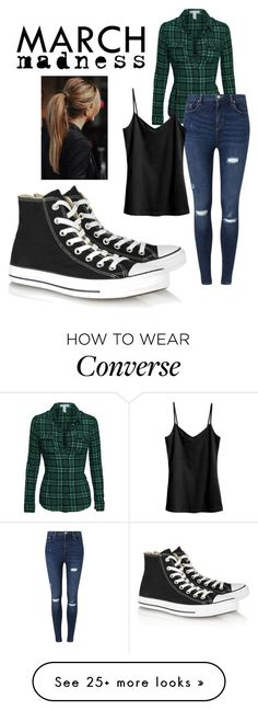 """Converse high-tops"" by scottishfiddlerfromengland on Polyvore featuring Converse, Miss Selfridge and H&M"